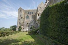 Abadía del Saint Michel de Mont, Francia Fotos de archivo