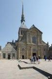 Abadía del Saint Michel de Mont, Francia Foto de archivo libre de regalías