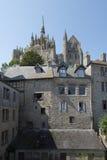 Abadía del Saint Michel de Mont, Francia Imagen de archivo