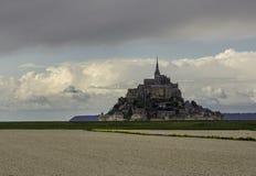 Abadía del Saint Michel de Mont, Normandía, Francia Foto de archivo