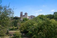Abadía del santo-Avit Senieur Francia Imagenes de archivo
