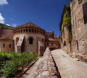 Abadía del Santo-Guilhem-le-desierto en Francia Foto de archivo