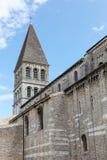 Abadía del santo Philibert en Tournus Foto de archivo