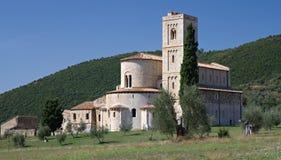 Abadía del St. Antimo Foto de archivo