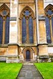 abadía del weinstmister de la ventana color de rosa en la pared de Londres Imagenes de archivo
