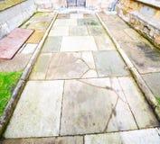 abadía del weinstmister en puerta de la iglesia de Londres y antigüedad viejas del mármol Fotografía de archivo libre de regalías