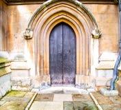 abadía del weinstmister en puerta de la iglesia de Londres y antigüedad viejas del mármol Foto de archivo