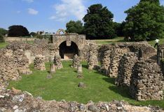 Abadía destruida de Cantorbery en Inglaterra Foto de archivo libre de regalías
