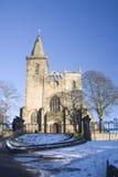 Abadía en invierno Foto de archivo libre de regalías