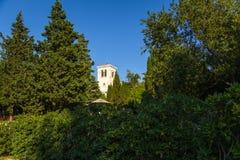 Abadía en la isla de Lokrum Imagenes de archivo