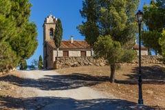 Abadía en la montaña, España, Aragón Imagen de archivo