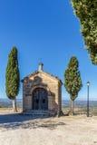 Abadía en la montaña, España, Aragón Foto de archivo