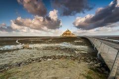 Abadía en Mont Saint Michel en Francia Imagen de archivo libre de regalías