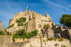 Abadía en Mont Saint-Michele Fotografía de archivo