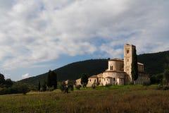 Abadía en Toscana Fotos de archivo libres de regalías