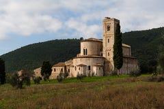 Abadía en Toscana Fotografía de archivo