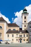 Abadía escocesa en el cuadrado de Freyung, Viena, Austria Foto de archivo libre de regalías