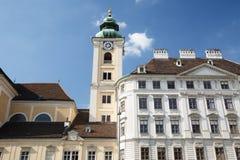 Abadía escocesa en el Freyung cuadrado en el centro de Viena Au Fotos de archivo libres de regalías