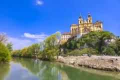 Abadía famosa de Melk en Austria Imagen de archivo libre de regalías