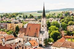 Abadía famosa de Melk en el río Danubio en una Austria más baja Imagen de archivo