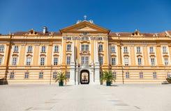 Abadía famosa de Melk en el río Danubio en una Austria más baja Imágenes de archivo libres de regalías