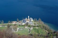 Abadía Haute de Combe en el lago Bourget, col rizada, Francia Imagen de archivo