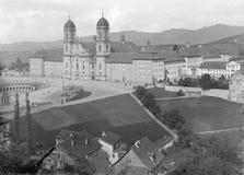 Abadía histórica de Einsiedeln Foto de archivo libre de regalías