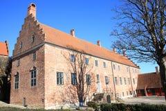 Abadía histórica de Odense en la isla de Fionia, Dinamarca Imagenes de archivo