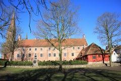 Abadía histórica de Odense en la isla de Fyn, Dinamarca Fotos de archivo libres de regalías