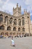 Abadía histórica del baño en Somerset Inglaterra Fotos de archivo libres de regalías