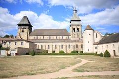 Abadía histórica en Chambon-du-Voueize, Francia Imagen de archivo libre de regalías