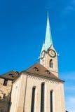 Abadía imperial de Fraumunster Reichskloster Fraumunster, Zurich Fotos de archivo libres de regalías