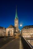 Abadía imperial de Fraumunster Reichskloster Fraumunster, Zurich Suiza Fotos de archivo