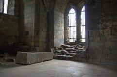 Abadía interior de Kirkstall Imágenes de archivo libres de regalías