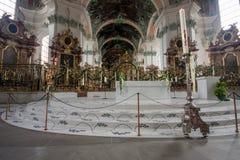 Abadía interior de la rozadura del santo en St Gallen Imagen de archivo libre de regalías