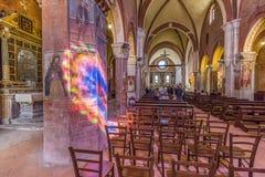 Abadía interior de Rivalta Scrivia Imagen de archivo libre de regalías