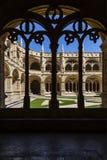 Abadía Lisboa del monasterio de Jeronimos del claustro Fotografía de archivo