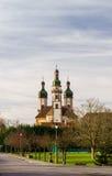 Abadía majestuosa de Ebersmunster fuera de la visión Foto de archivo libre de regalías