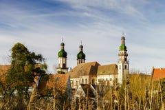 Abadía majestuosa de Ebersmunster fuera de la visión Imagen de archivo libre de regalías