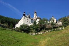 Abadía Marienberg de Burgeis Foto de archivo