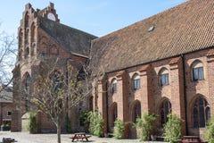 Abadía medieval de Greyfriars del monasterio en Ystad Suecia Fotos de archivo libres de regalías