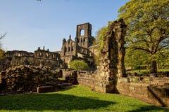 Abadía medieval de Kirkstall cerca de Leeds Foto de archivo libre de regalías