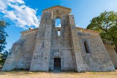 Abadía medieval de San Galgano a partir del siglo XIII, cerca de Siena, Tus Foto de archivo