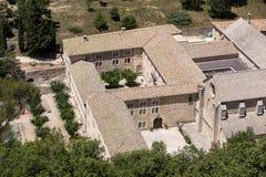 Abadía o Abbaye Notre-Dame de Senanque de Senanque cerca de Gordes en Provence Imagenes de archivo