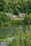 Abadía pintoresca de Fontaine Guérard de Radepont en Normandie Foto de archivo