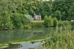 Abadía pintoresca de Fontaine Guérard de Radepont en Normandie Imagen de archivo