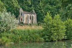 Abadía pintoresca de Fontaine Guérard de Radepont en Normandie Imagen de archivo libre de regalías