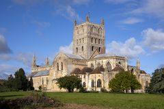 Abadía pintoresca de Gloucestershire - de Tewkesbury Imagenes de archivo