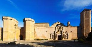 Abadía real de Santa María de Poblet Imagenes de archivo