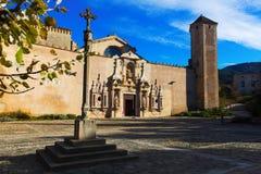 Abadía real de Santa María de Poblet Foto de archivo libre de regalías
